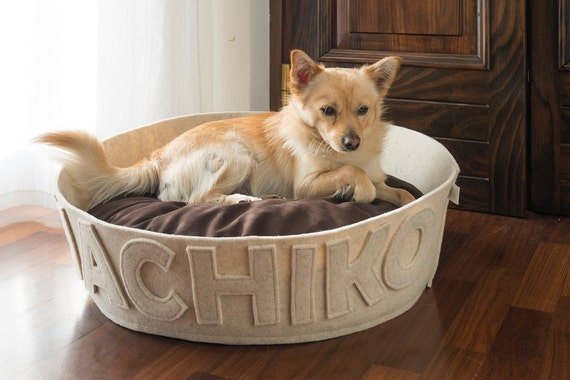 Dog Beds Personalized White Pet Bed Modern Dog Bed By