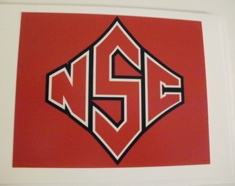 NC State blank photo note cards