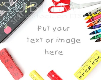 Styled Stock Photography / Styled Desktop / Teacher Theme / Mock Up / Back to Shool / JPEG Digital Image / StockStyle-516