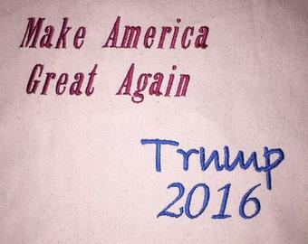 Custom made 2016 donald trump xlarge tote bag