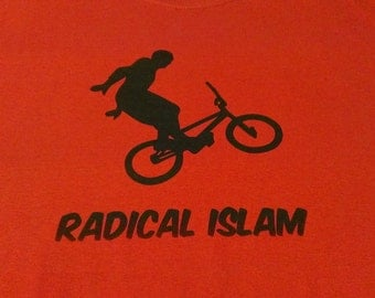 Long Sleeve Radical Islam Bike Screen Print T-shirt in Mens or Womens Sizes S-3XL