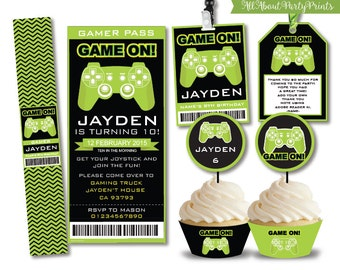 Instant Download-Video Game Party Printable-Complete Party Pack-Boys Birthday-for personal use only-digital file