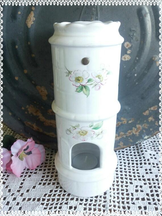 Tea Light Oven ~ Vintage miniature tile stove tea light holder