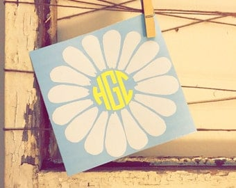 Daisy Monogram Decal - Pick your colors!