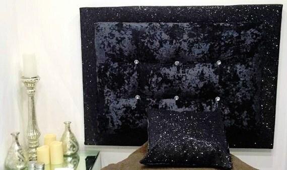 Tête de lit fait main Glitter & velours 2 couche avec des