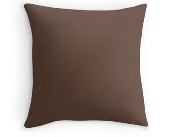 Brown Pillow, Brown Throw Pillow, Brown Decorative Pillow, Brown Toss Pillow, Brown Decor, Brown Pillow Case, Brown Pillow Cover, Brown Room