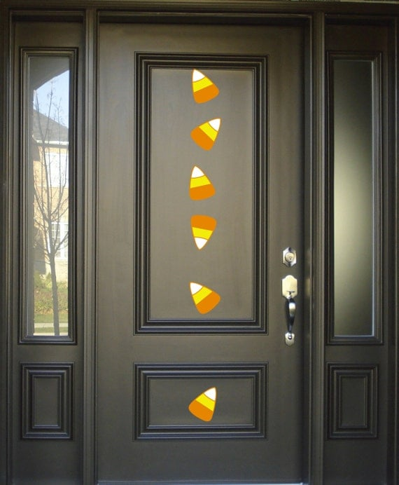 Candy corn wall decals set of 10 halloween decoration for Candy wall mural