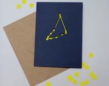 Capricorn Horoscope Constellation Papercut Card - (December 22nd- January 19th) Birthday or Greeting