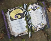NIGHTMARE BEFORE CHRISTMAS Spell Book Halloween Wedding Party Decoration Jack Sally Spellbook Potions
