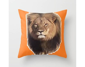 Cecil the Lion Throw Pillow Cover Cecil Throw Pillow Cover Lion Decorative Pillow Cecil Indoor Pillow Cover Cecil Outdoor Pillow Cover Give