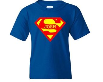 Personalized Superman t-shirt - Superman Inspired shirt - Custom Superman t-shirt