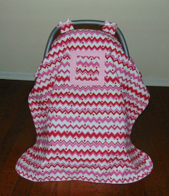 Baby Car Seat Cover Canopy With Peek A Boo Window