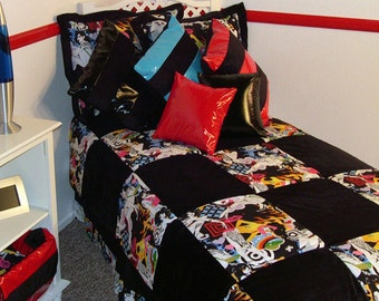 Tattoo 6 Piece Twin Bedding Set