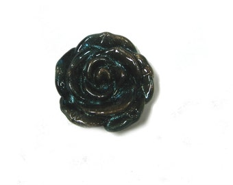 Glass Flower Pendant (1pc)