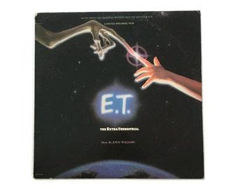 "John Williams, ""E.T. The Extraterrestrial"", vinyl record album, soundtrack LP, 80s, steven spielberg"