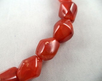 Carnelian Nugget Beads - 10-13mm - 15 1/2 Inch Strand