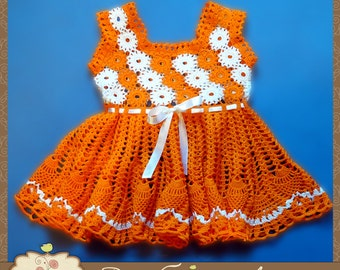 "Baby dress ""Orange Summer"""