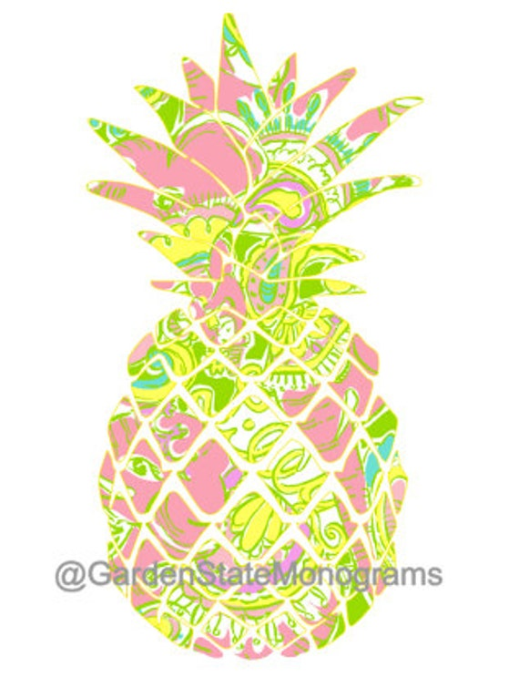 pineapple lilly pulitzer inspired chin by gardenstatemonograms. Black Bedroom Furniture Sets. Home Design Ideas
