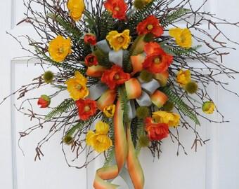 Birch Twig Wreath Etsy