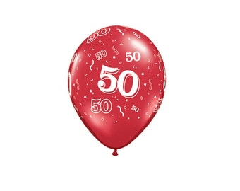 50th Latex Balloons