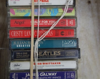one lot of TWELVE old EZ listening cassette tapes