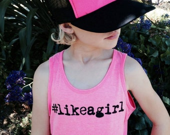 The #likeagirl pink tank
