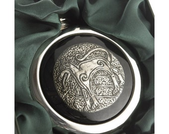 Celtic Wolf Whiskey Flask