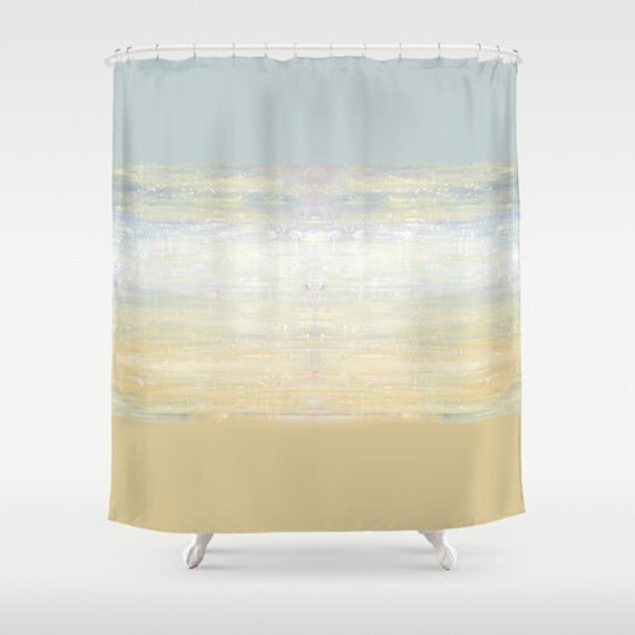 Beach shower curtain gray bathroom decor gray by for Grey silver bathroom accessories