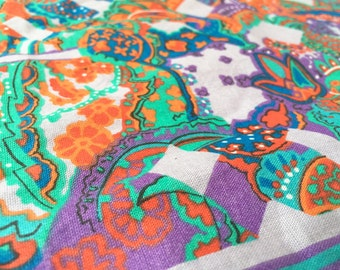 Vintage German Fabric psychedelic Curtains 50cmx120cm