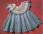 Girls Mesh And Flower Dress Crochet Pattern Sizes 2,3 and 4 Toddler Child Dress Crochet Pattern PDF Instant Download