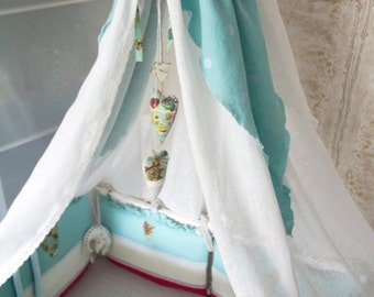 Handmade Bed canopy - Nursery - Cot canopy