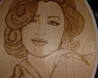 Marilyn Monroe wood plaque