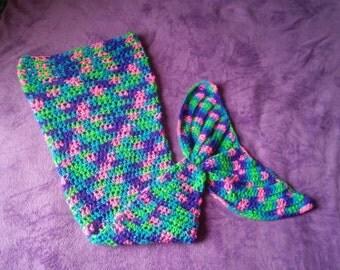 Crochet Mermaid Tail, Custom Made to Order, Newborn to Adult, Crochet Mermaid Blanket, Mermaid Cocoon, Mermaid Afghan, Custom Crochetables