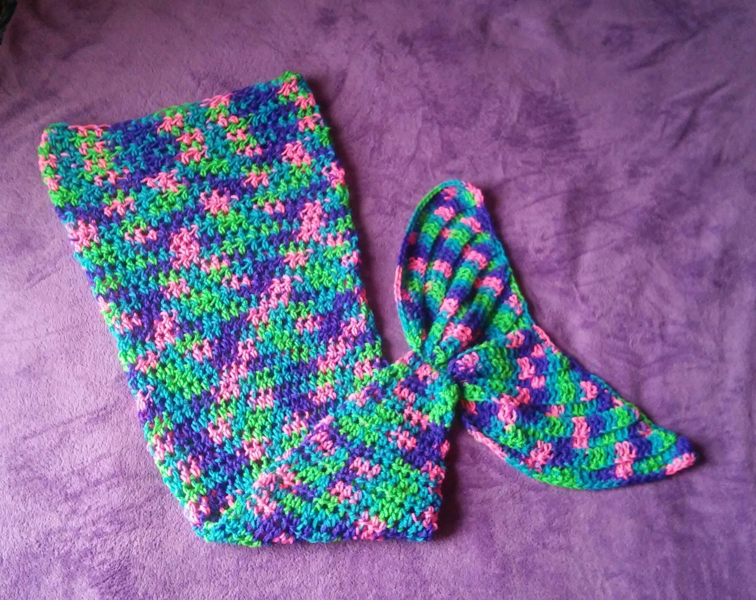 Crochet Mermaid Tail Custom Made to Order Newborn to Adult