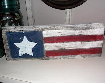 American Flag Wood Sign, Wooden Flag Sign, American Flag, American Flag Sign, Rustic Wood Sign, Reclaimed Wood Wall Art, Farmhouse Decor