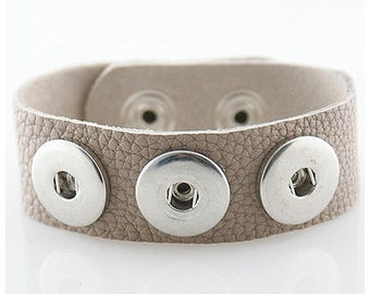taupe leather bracelet