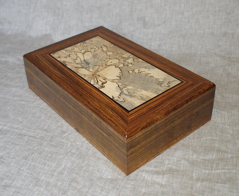 Handmade wooden keepsake box jewelry box valet box watch for Handmade wooden jewelry box