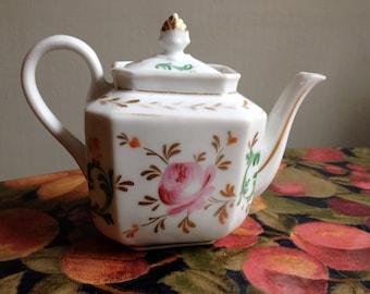 Antique Paris Porcelain Rose Deocorated Teapot