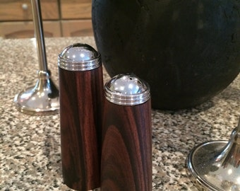 Pau Ferro salt and pepper shakers
