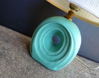 Mod Turquoise Aqua FANTASTIC Vintage Lamp