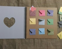 Alternative wedding guestbook with mini envelopes, choose your size