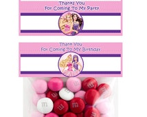 Barbie 6 Inch  Party Favor Topper- Digital Download - Candy Bag Topper - Barbie Party