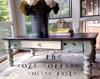 SOLD!--The Cozy Cottage Coffee Table