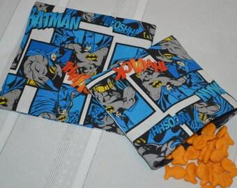 Batman Snack Bags-Snack & Sandwich Bags-Snack Bags-Reusable Snack and Sandwich Bags-Reusable Snack Bags-Sandwich Bags-Batman Sandwich Bag