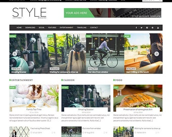 Style Magazine Premade Blogger Template