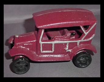 Vintage Cast Iron Toy Car