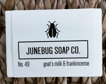 Goat's Milk & Frankincense Bar Soap - Mens Soap, Goat Milk Soap, Handmade Soap, Bar Soap, Hand Soap, Frankincense Soap, Homemade Soap
