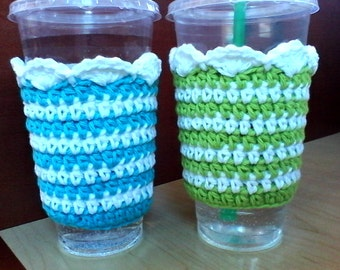 Crochet Cup Sleeves for Cold And Hot Drinks