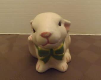 Bow Tie Bunny Planter Vase - Unmarked