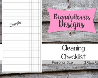 Cleaning Routine Checklist _Personal Size_Filofax Kikki K_PRINTABLE PDF